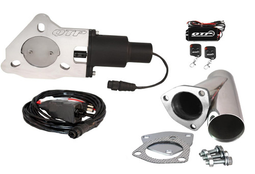 """QTP QTEC25CPK 2.5"""" Electric Exhaust Cutout - Y-Pipe & Wireless Remotes"""