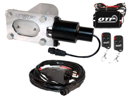QTP QTEC33K Low Profile Oval Electric Exhaust Cutouts With Wireless Remotes