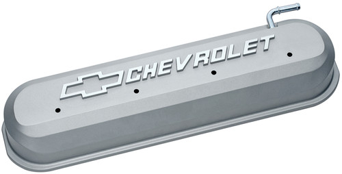 Proform 141-263 Cast Aluminum Tall Valve Covers - GM LS Engines Natural w/ Logo