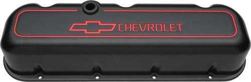 Proform 141-141 Big Block Chevy Aluminum Tall Black Wrinkle Valve Covers - Pair
