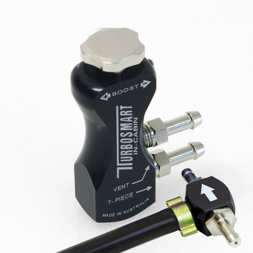 Turbosmart TS-0106-1002 In-Cabin Gated Manual Boost Controller - Black Aluminum