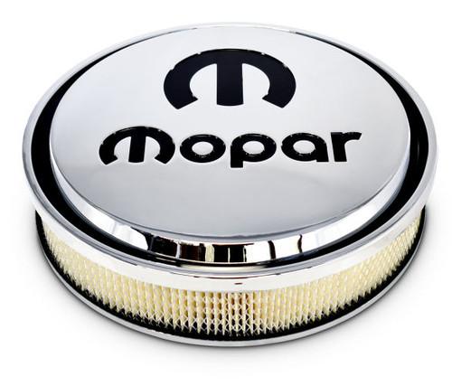 "Proform 440-835 14"" MOPAR Slant Edge Aluminum Air Cleaner Chrome / Black ""M"""