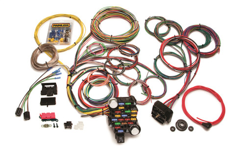 Painless Wiring 20104 28 Circuit Classic-Plus Customizable Muscle Car Harness