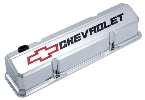 Proform 141-930 Slant Edge Valve Covers - Small Block Chevy Chrome Cast Aluminum