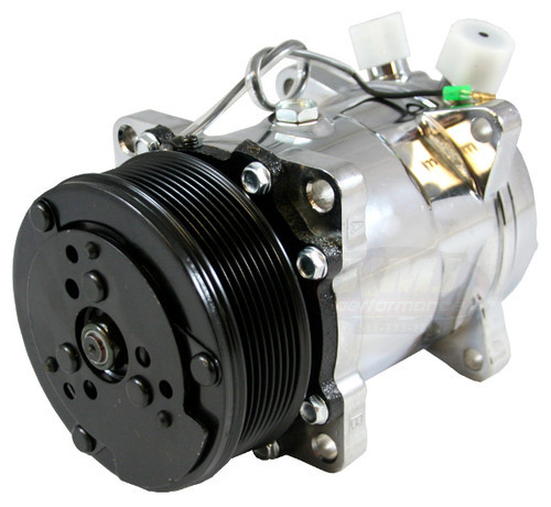 New SD709 4515  Sanden Type 508 A/C Compressor Satin Finish R12 or R134A