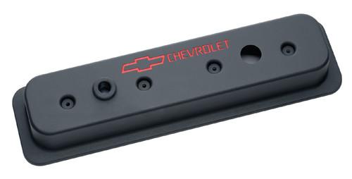 Proform 141-131 Small Block Chevy Centerbolt Tall Aluminum Valve Covers - Black