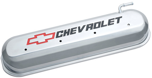 Proform 141-264 Cast Aluminum Tall Valve Covers - GM LS Engines Polished w/ Logo