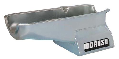 Moroso 20200 Street/Strip Oil Pan - Small Block Chevy - P/S Dipstick - 7 Quart