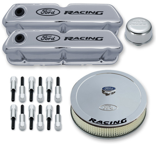 Proform 302-510 Engine Dress Up Kit - Ford 289/302/351W - Chrome - Ford Racing