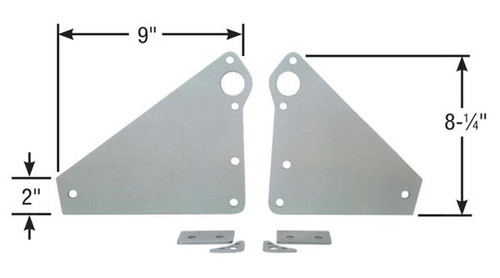 "Competition Engineering C4007 2-Piece Motor Plates Big Block Chevy Aluminum .25"""