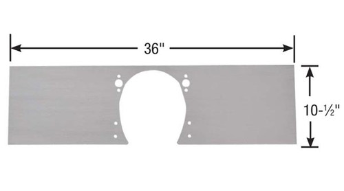 Competition Engineering C4004 1-Piece Motor Plate Small Block Chevy Aluminum