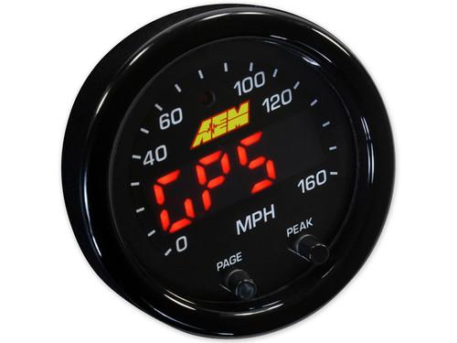 "AEM 30-0313 X-Series GPS Speedometer, MPH/Altitude & Track Gauge 2-1/16"" 52mm"