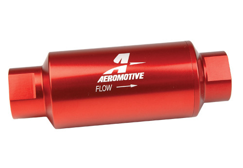 Aeromotive 12304 Inline Fuel Filter - 10AN ORB Inlet/Outlet - 100 Micron Element