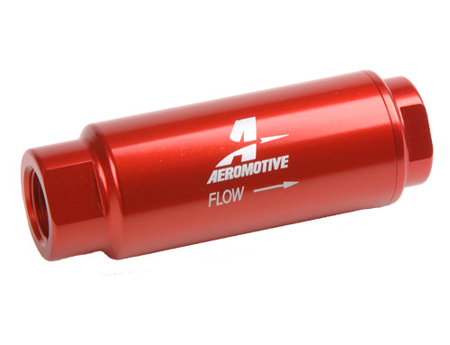 "Aeromotive 12303 SS Series Inline Fuel Filter - 3/8"" NPT - 40 Micron Element"