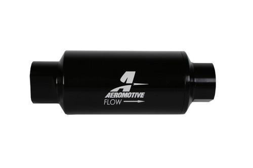 Aeromotive 12350 Inline Fuel Filter - 10AN ORB Inlet/Outlet - 10 Microglass