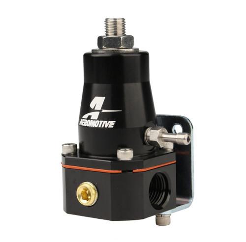 Aeromotive 13136 EFI Bypass Fuel Pressure Regulator 30-70psi 6AN ORB Ports Black