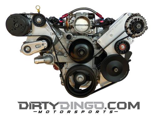 Dirty Dingo Alternator/Power Steering & Sanden AC Bracket GM LSx Truck Engines