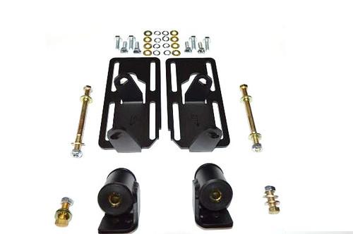 Dirty Dingo Engine Swap Motor Mounts LS1 In 70-78 Datsun 240Z/280Z Black Coated