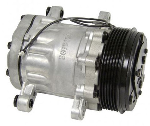 New Sanden SD7B10 Mini A/C Compressor Satin Finish - For R134A Charge