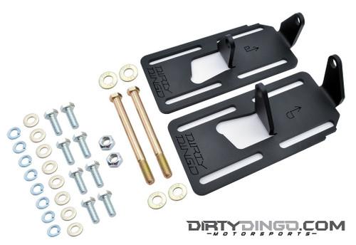 Dirty Dingo Adjustable Engine Mounts LS1 Swap 88-98 2WD GM Truck/Pickup Black