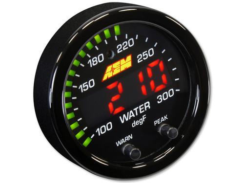 """AEM 30-0302 X-Series 300F/150C Water/Trans/Oil Temp Gauge  2-1/16"""" 52mm"""