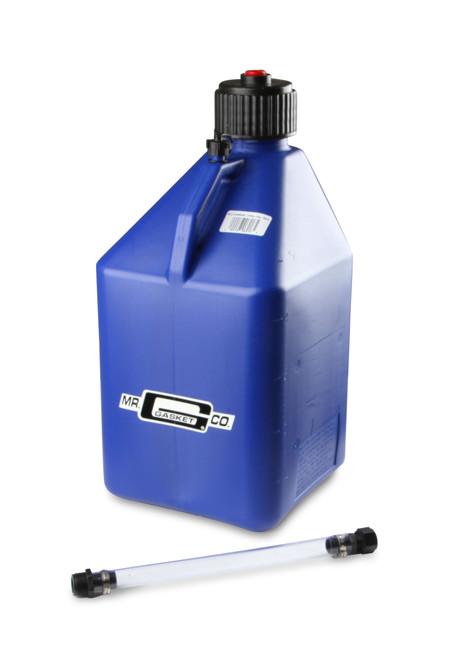 Mr.Gasket Utility Jug w/ Filler Hose - Blue - 5 Gallon Capacity