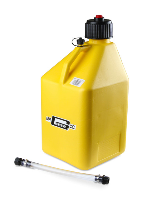 Mr.Gasket Utility Jug w/ Filler Hose - Yellow - 5 Gallon Capacity