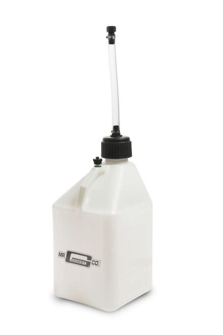 Mr.Gasket Utility Jug w/ Filler Hose - White - 5 Gallon Capacity