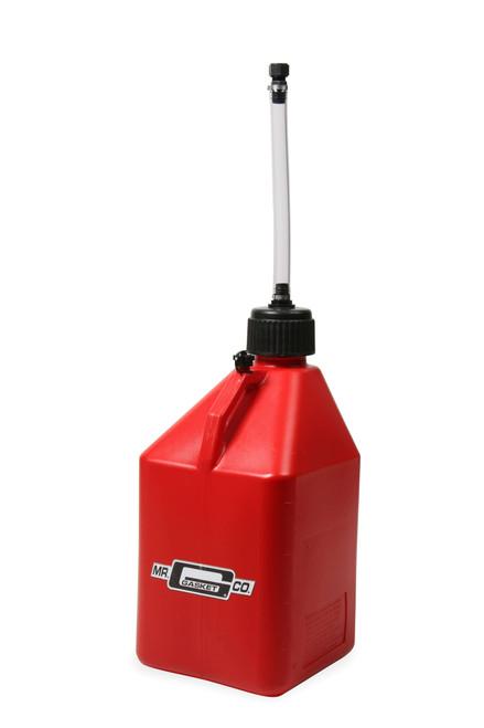Mr.Gasket Utility Jug w/ Filler Hose - Red - 5 Gallon Capacity