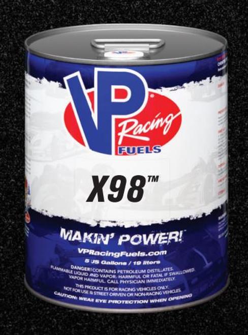 VP Racing Fuel X98 115 Octane Pure E98 - More Consistent than Pump! 5 Gallon Pail