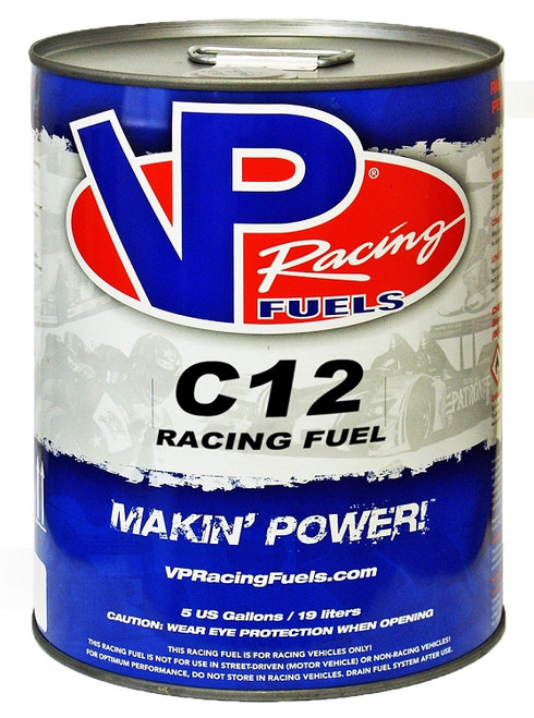 VP Racing Fuel - C12 - 108 Motor Octane Leaded - Up to 15:1 CR - 5 Gallon Pail