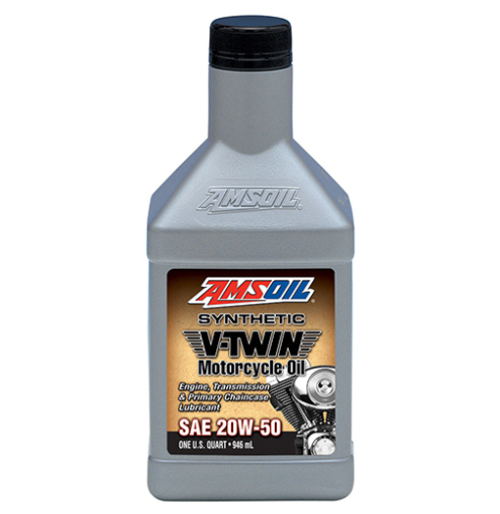 AMSOIL 20W-50 Synthetic V-Twin Motorcycle Oil (Quart)