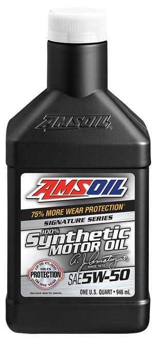 AMSOIL Signature Series 5W-50 Synthetic Motor Oil (Quart)
