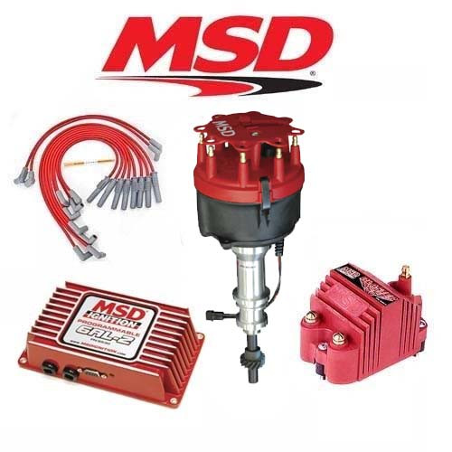 MSD Ignition Kit Programmable 6AL-2/Distributor/Wires/Coil Ford 351C-400-429-460