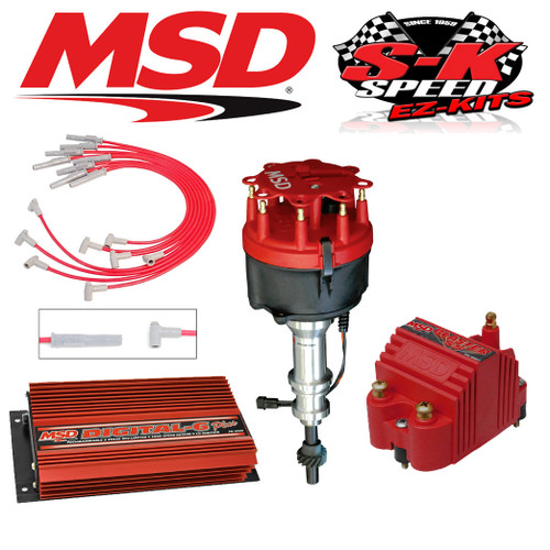 MSD Ignition Kit Digital 6 Plus/Distributor/Wires/Coil Ford 351C-M_400_429_460