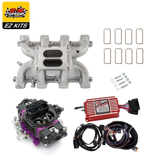 LS1 Carb Intake Kit - Edelbrock RPM Intake/MSD 6014 Ignition/Proform Black 750 Carb