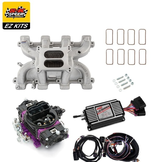 LS1 Carb Intake Kit - Edelbrock RPM Intake/MSD 60143 Ignition/Proform Black 750 Carb