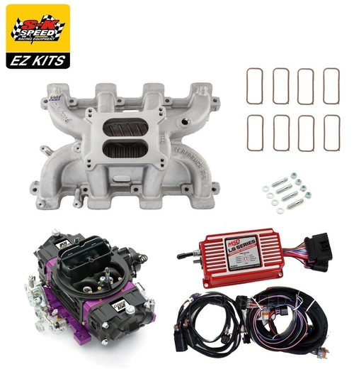 LS1 Carb Intake Kit - Edelbrock RPM Intake/MSD 6014 Ignition/Proform 650 Black Carb