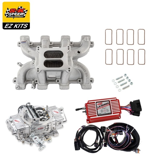 LS1 Carb Intake Kit - Edelbrock RPM Intake/MSD 6014 Ignition/QFT Hot Rod 750 Carb
