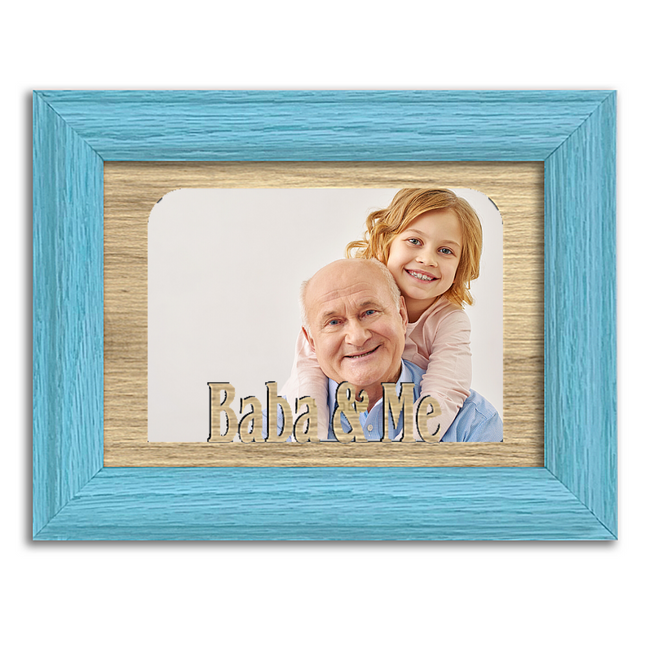 Baba and Me Tabletop Picture Frame - Holds 4x6 Photo - Multiple Color Options