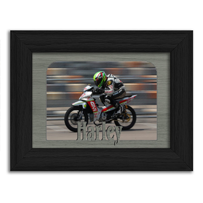 Harley Tabletop Picture Frame - Holds 4x6 Photo - Multiple Color Options