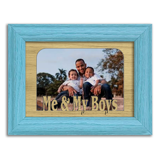 Me and My Boys Tabletop Picture Frame - Holds 4x6 Photo - Multiple Color Options