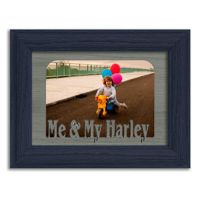 Me and My Harley Tabletop Picture Frame - Holds 4x6 Photo - Multiple Color Options
