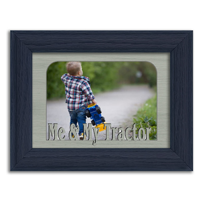 Me & My Tractor Tabletop Picture Frame - Holds 4x6 Photo - Multiple Color Options