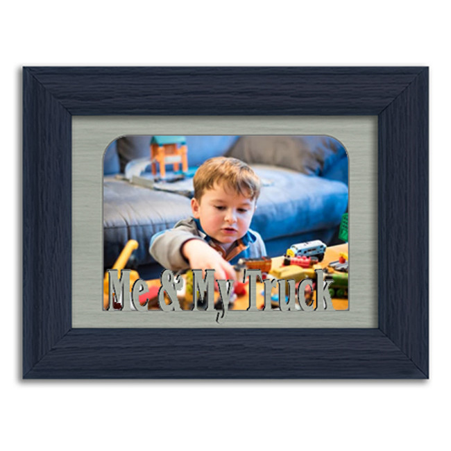 Me & My Truck Tabletop Picture Frame - Holds 4x6 Photo - Multiple Color Options