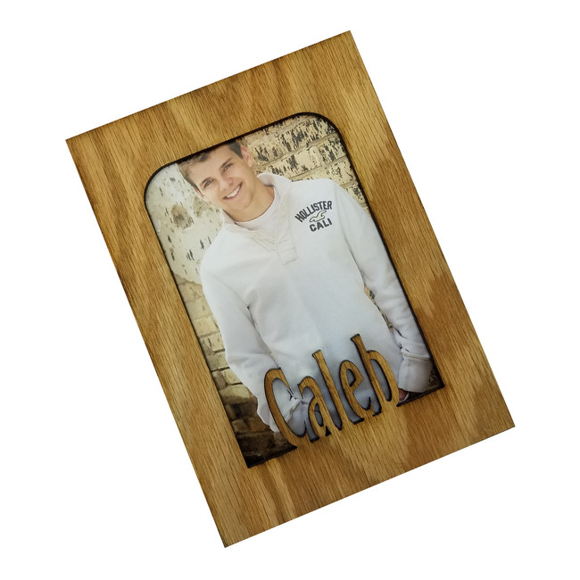Personalized Picture Frame Insert - Personalized with Any Name - 10 Color Options - INSERT ONLY 5x7