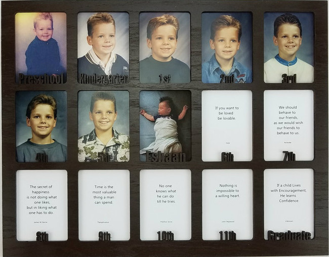 School Years Picture Insert - Personalized - Preschool - 11x14