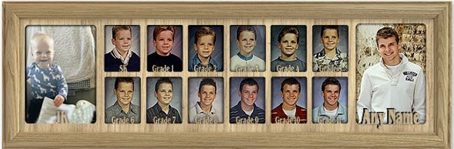 School Years Picture Frame Collage - Canada Grades - Personalized - JK to Graduation - 7x25