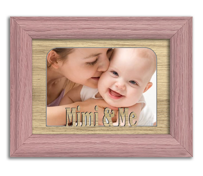 Mimi and Me Tabletop Picture Frame - Holds 4x6 Photo - Multiple Color Option