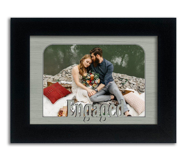 Engaged Tabletop Picture Frame - Holds 4x6 Photo - Multiple Color Options